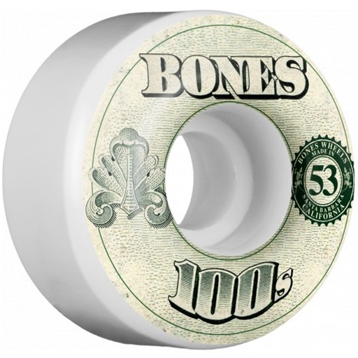 Bones Bones- 100's- Original Formula- 53mm- 100a- V4- White- Wheels