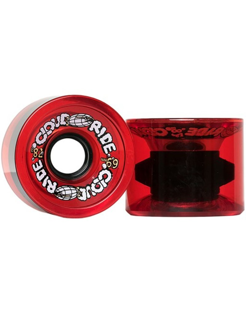 Cloud Ride Cloud Ride- Cruiser- 69mm- 78a- Translucent Red- Wheels