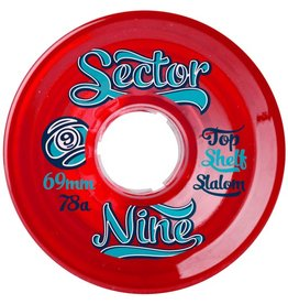 Sector 9 Sector 9- Top Shelf Slalom- 69mm- 78a- Red- Wheels
