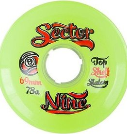 Sector 9 Sector 9- Top Shelf Slalom- 69mm- 78a- Green- Wheels