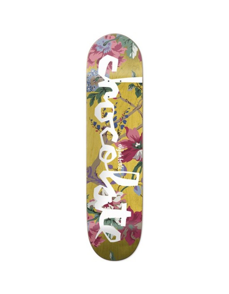 Chocolate Chocolate- Berle Floral Chunk- 8.375in x 31.75in- Decks
