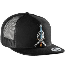 Powell Peralta Powell Peralta- Skull and Sword- Mesh- Black- Hats