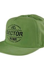 Sector 9 Sector 9- Cyclone- Green- 5 Panel Snapback- Hats