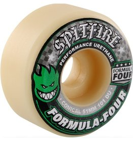 Spit Fire Spitfire- Formula 4- Conical- 51mm- 101a- White/Green/Black- Wheels
