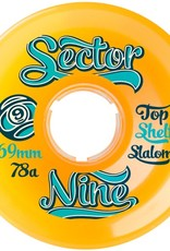 Sector 9 Sector 9- Top Shelf Slalom- 69mm- 78a- Orange- Wheels
