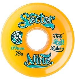 Sector 9 Sector 9- Top Shelf Slalom- 69mm- 78a- Orange- Wheels