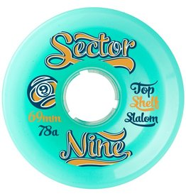 Sector 9 Sector 9- Top Shelf Slalom- 69mm- 78a- Aqua- Wheels
