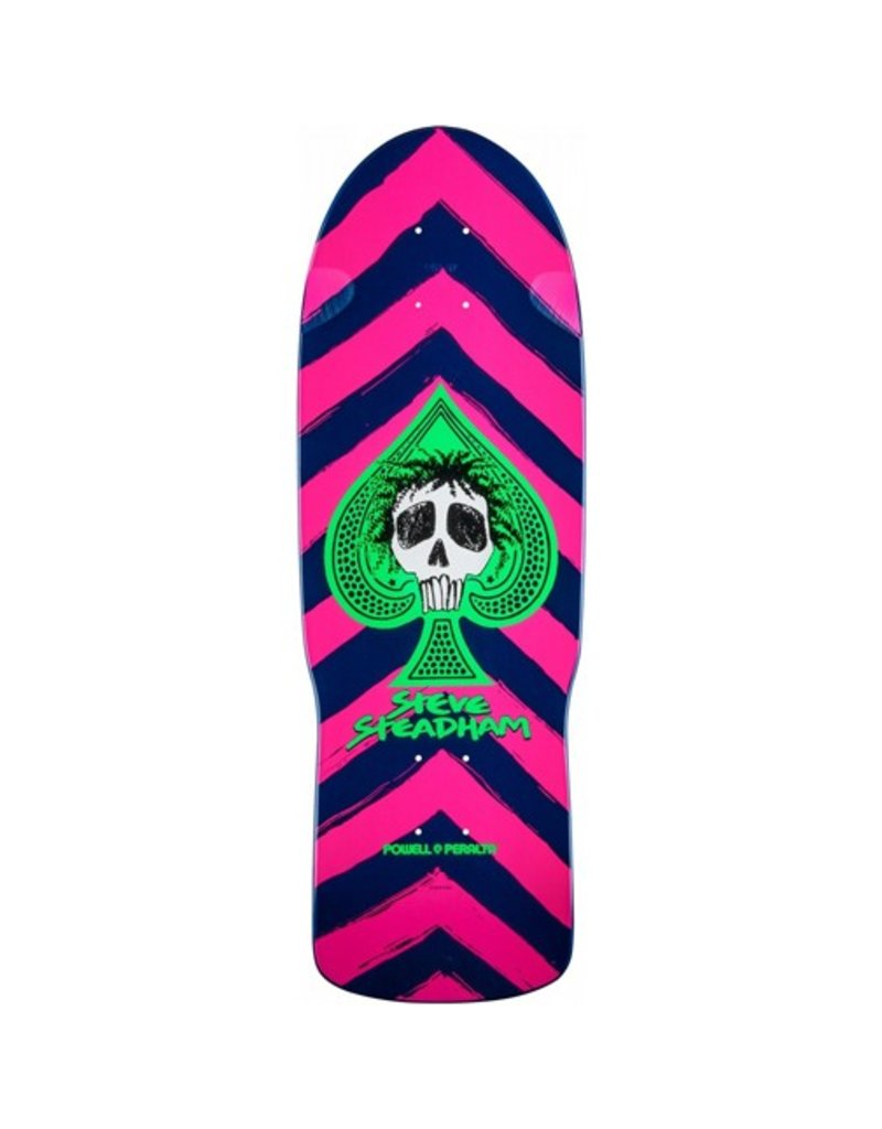 Powell Peralta Powell Peralta- Steadham Skull and Spade- Pink/Navy- 10x30.125 in- Deck