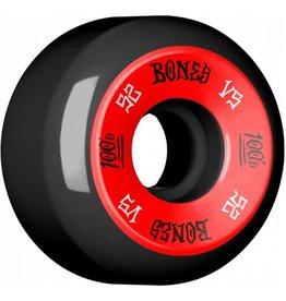 Bones Bones- 100's- Original Formula- 52mm- 100a- V5- Black/Red- Wheels