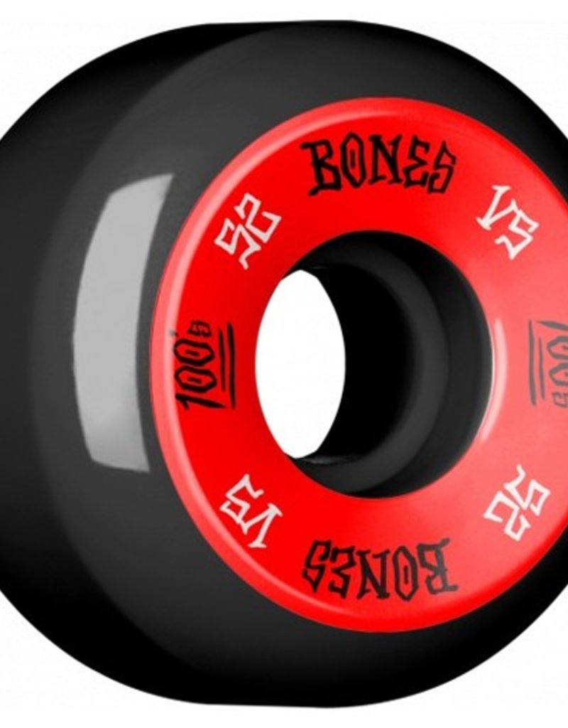 Bones Bones- 100's- Original Formula- 52mm- 100a- V5- Black/Red- Wheels