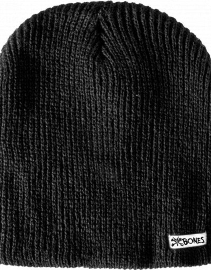 Bones Bones- Slip On- Black- Beanie