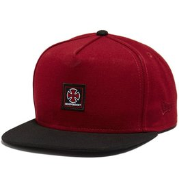 Independent Independent- Classic Label- New Era Snapback- Maroon/Black- Hat