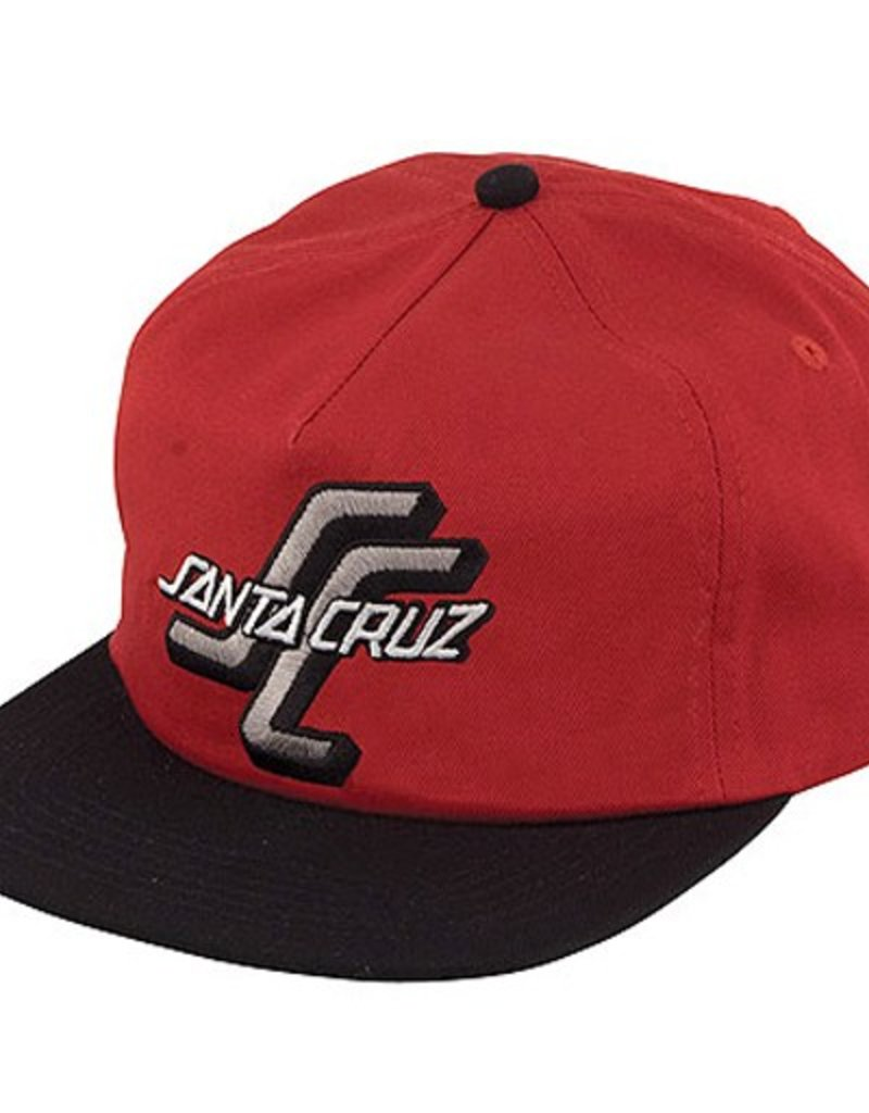 Santa Cruz Santa Cruz- The OGSC- Snapback- Cardinal/Black- Hat