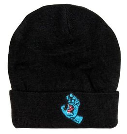 Santa Cruz Santa Cruz- Screaming Hand- Long Shoreman- Black- Beanie