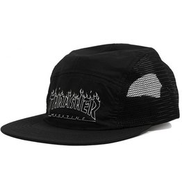 Thrasher Thrasher- Flame Outline- 5 Panel- Black- Hat