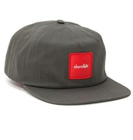 Chocolate Chocolate- Red Square- 5 Panel- Grey- Hat