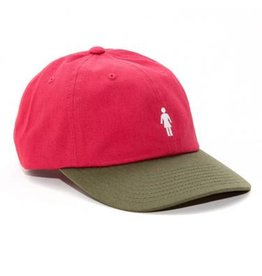 Girl Girl- OG- Micro- Strap Back- Red and Olive- Hats