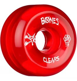 Bones Bones- Skatepark Formula- 54mm- Clear Red- Wheels