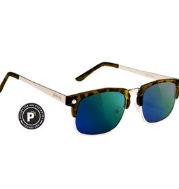 Glassy Sunglasses Glassy- P Rod- Tortoise/Green Mirror- Sunglasses