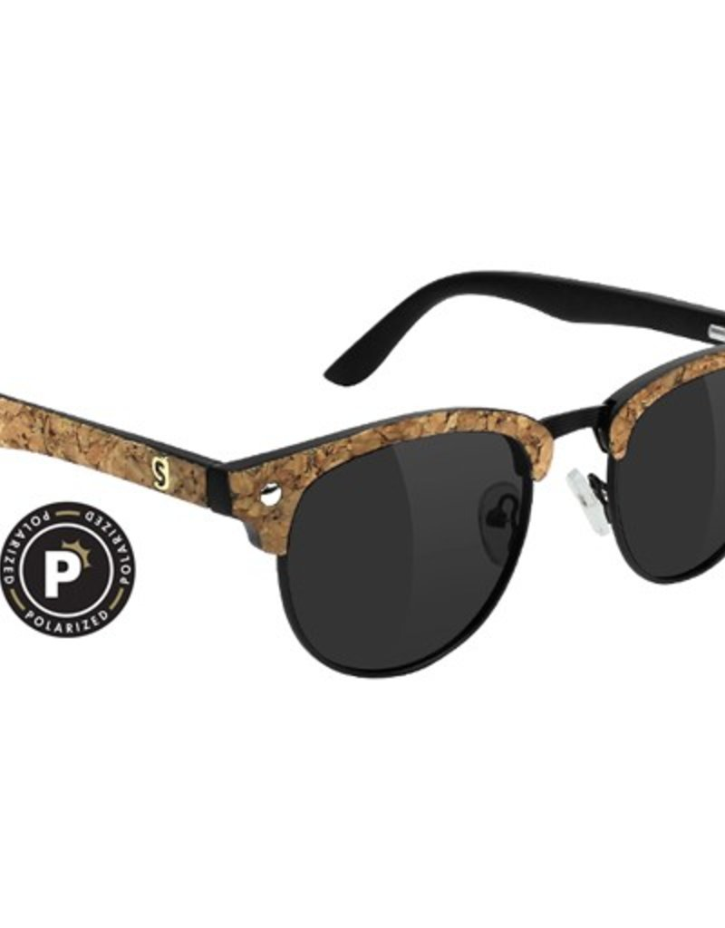 Glassy Sunglasses Glassy- Morrison- Premium Polarized- Dashawn- Black/Cork- Sunglasses