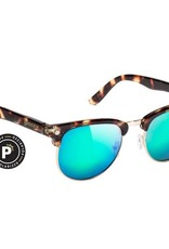 Glassy Sunglasses Glassy- Morrison- Polarized- Tortoise/Green Mirror- Sunglasses
