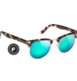 Glassy Sunglasses Glassy- Morrison- Polarized- Tortoise/Green Mirror- Sunglasses
