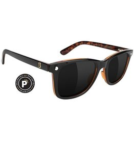 Glassy Sunglasses Glassy- Mike Mo- Premium Polarized- Black/Purple Smoke- Sunglasses