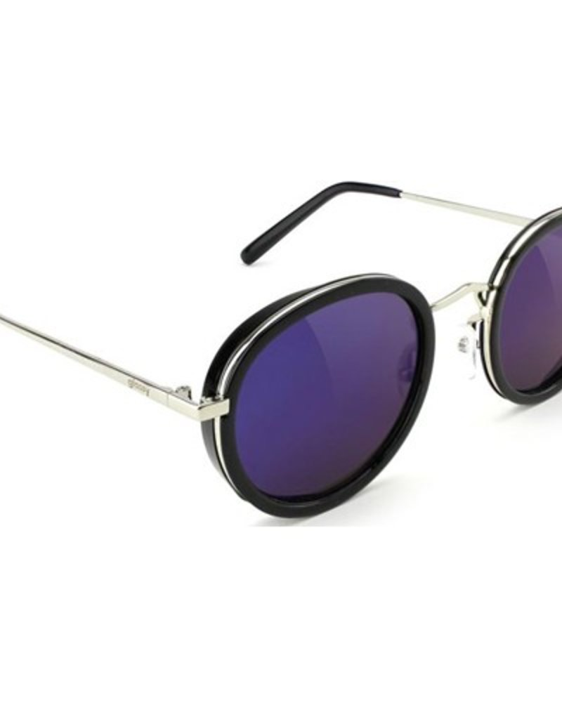 Glassy Sunglasses Glassy- Lincoln- Black/Blue Mirror- Sunglasses