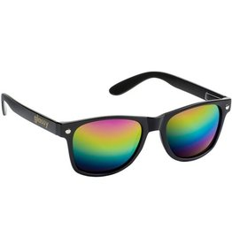 Glassy Sunglasses Glassy- Leonard- Black/Color Mirror Sunglasses