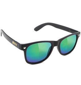 Glassy Sunglasses Glassy- Leonard- Matte Black/Green Mirror- Sunglasses