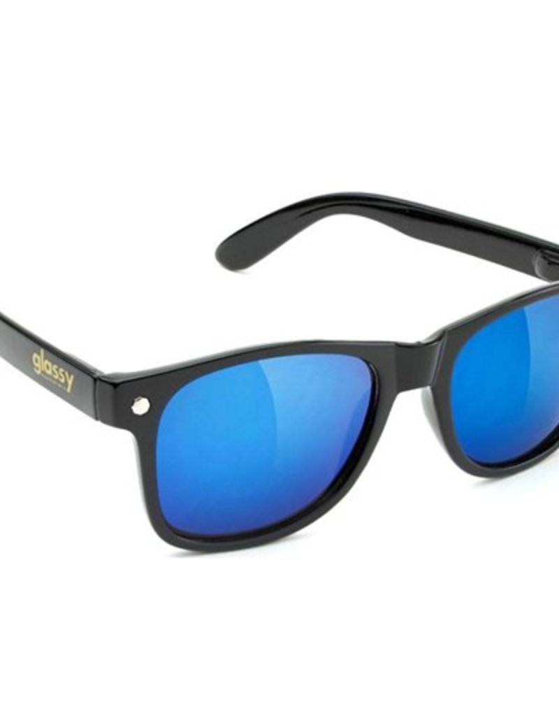Glassy Sunglasses Glassy- Leonard- Black/Blue Mirror- Sunglasses
