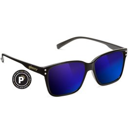 Glassy Sunglasses Glassy- Fritz- Polarized- Black/Blue Mirror- Sunglasses