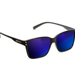 Glassy Sunglasses Glassy- Fritz- Black/Blue Mirror- Suglasses