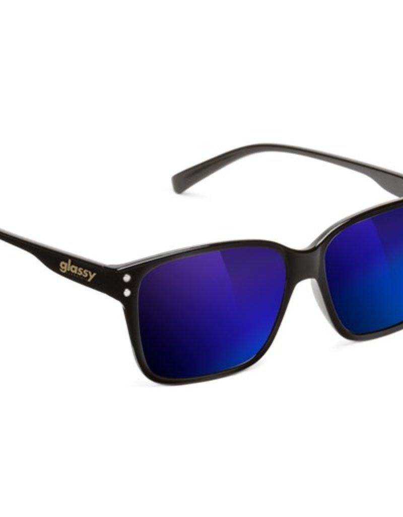 Glassy Sunglasses Glassy- Fritz- Black/Blue Mirror- Suglasses