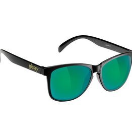 Glassy Sunglasses Glassy- Deric- Matte Black/Green  Mirror- Sunglasses