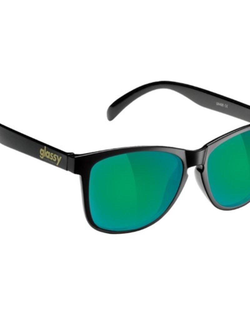 Glassy Sunglasses Glassy- Deric- Matte Black/Green  Mirror- Sunglasses