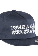 Bones Bones- Powell Peralta-Rat Bones- Snapback- Navy- Hats