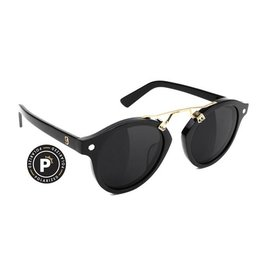 Glassy Sunglasses Glassy- Swift- Polarized- High Roller- Black/Gold- Sunglasses