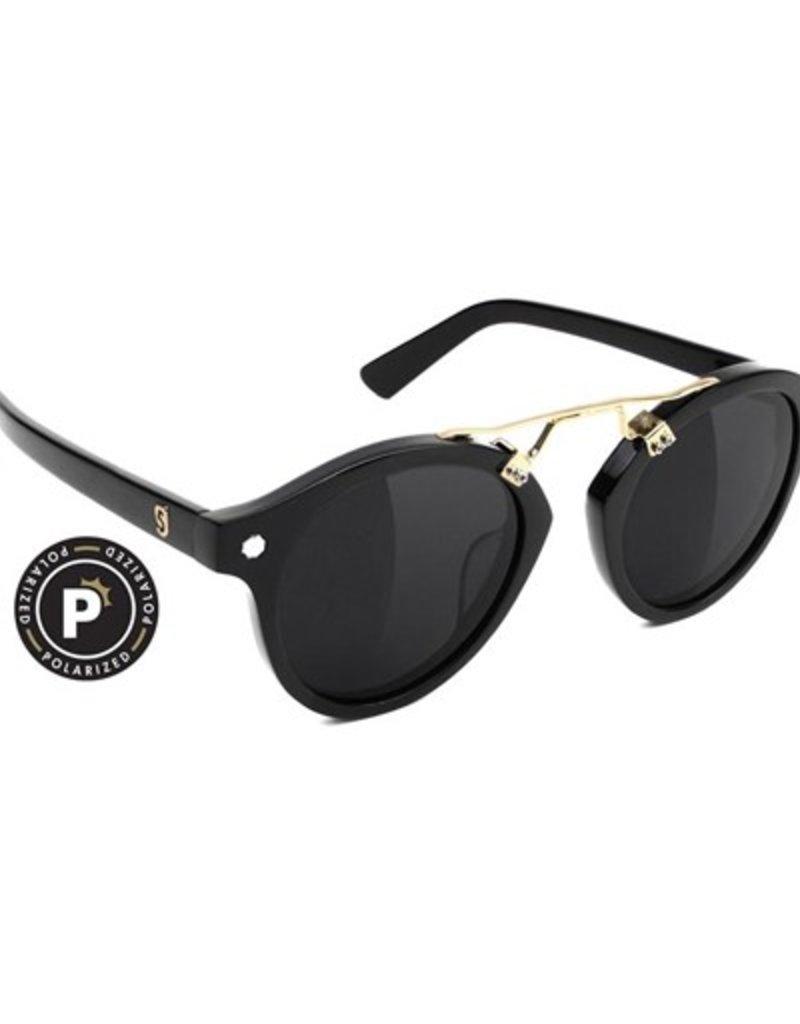 Glassy Sunglasses Glassy- Swift- Polarized- High Roller- Black/Gold- Sunglasses
