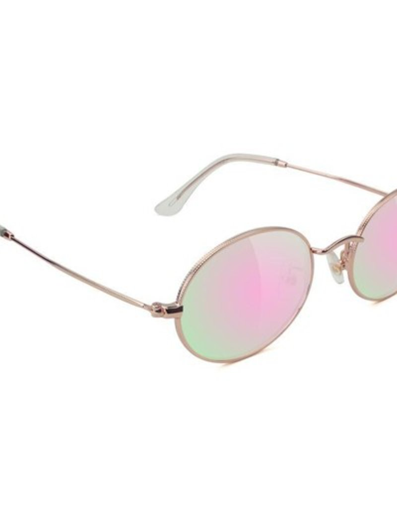 Glassy Sunglasses Glassy- Stark- Rose Gold/Pink Mirror- Sunglasses