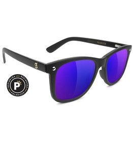 Glassy Sunglasses Glassy- Mike Mo- Premium Polarized- Matte Black/Blue Mirror- Sunglasses