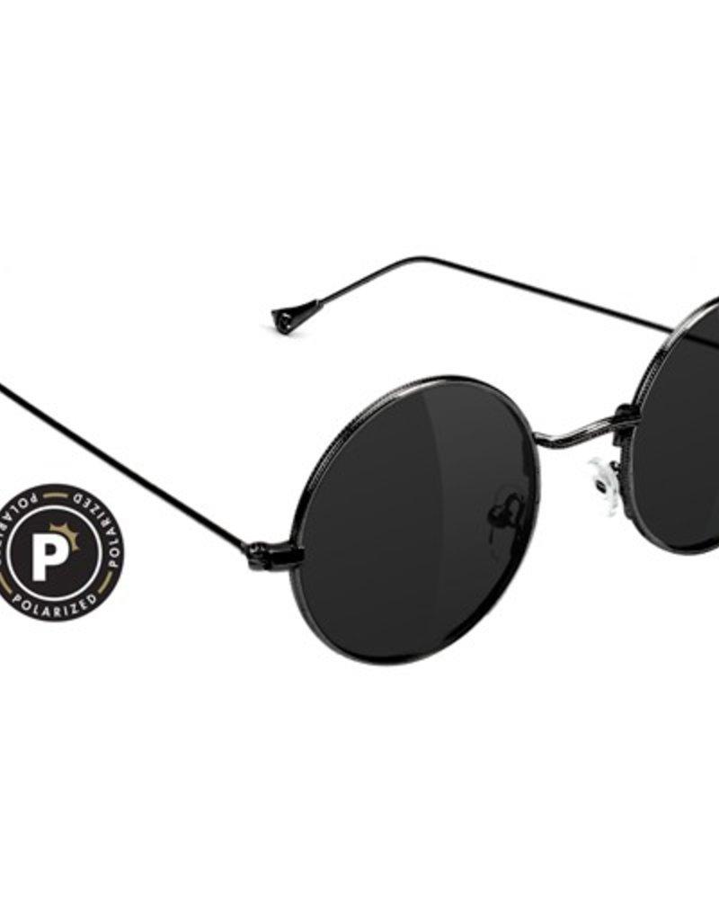 Glassy Sunglasses Glassy- Jaws- Polarized- Black- Sunglasses