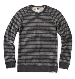 Reef Reef- Rowstripe- Crew- Black Heather- Sweatshirts