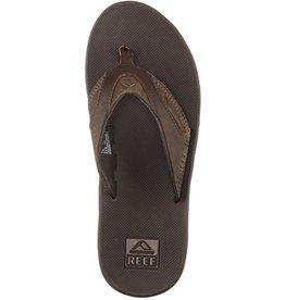 Reef Reef- Leather Fanning- Men's Flip Flop- Brown