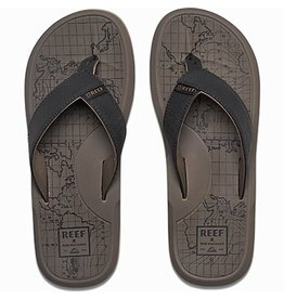 Reef- Machado- Men's Flip Flop-Day Prints Tan Map