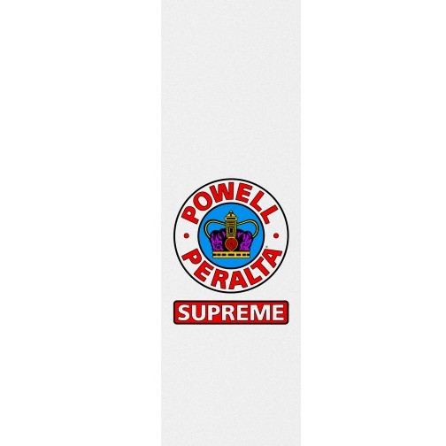 Powell Peralta Powell Peralta- Supreme White- Graphic Grip- 9 x 33 in Sheet- Grip Tape