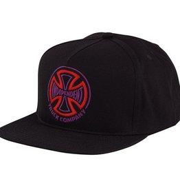Independent Independent- Two Tone- Snapback- Black- Hat
