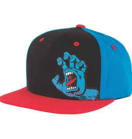 Santa Cruz Santa Cruz- Screaming Hand- Snapback- Black/Blue/Red- Youth- Hat