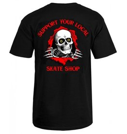 Powell Peralta Powell Peralta- Ripper- Support Your Local Skateshop- Black- T-shirt