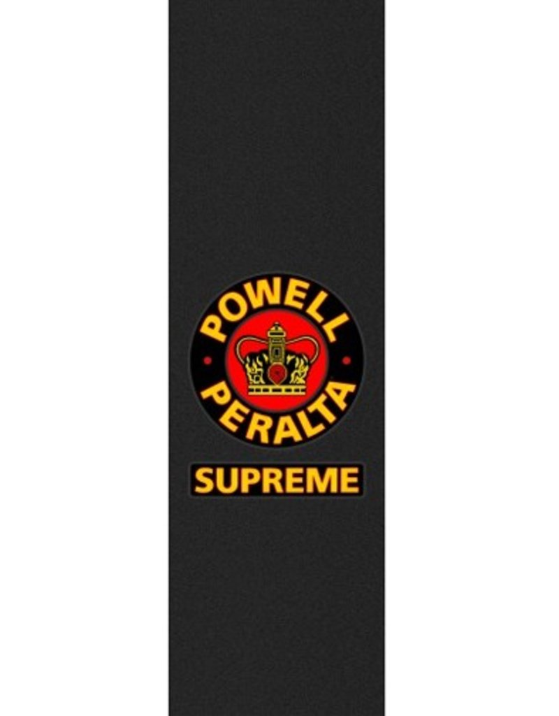 Powell Peralta Powell Peralta- Supreme Black- Graphic Grip- 9 x 33 in Sheet- Grip Tape